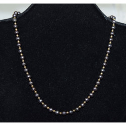 Black pearls necklace