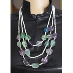 Fluorite pearl necklace