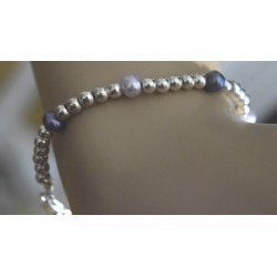Pearl bracelet and silver...