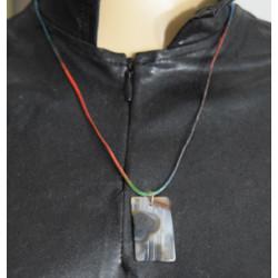 Rectangular agate necklace