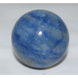 Blue quartz sphere