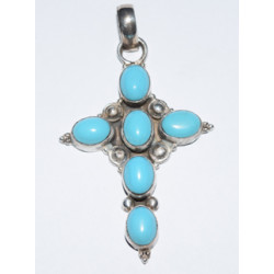 Cross with turquoise