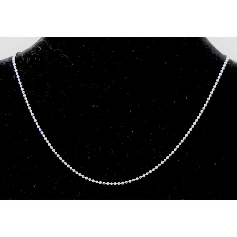 Silver balls necklace