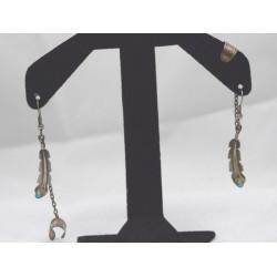 Feather earrings clips