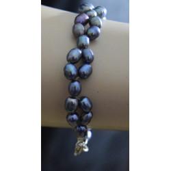 Braccialetto perle nere