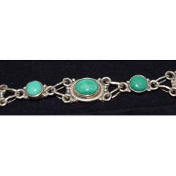 Oval malachite bracelet