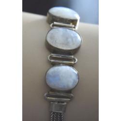 Clear labradorite bracelet