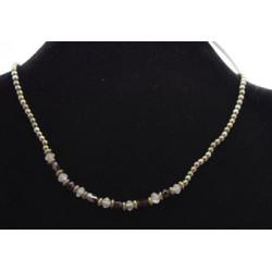 Quartz and garnet necklace